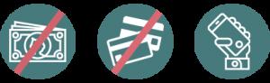 Iconos ventajas de pagar la gasolina con App